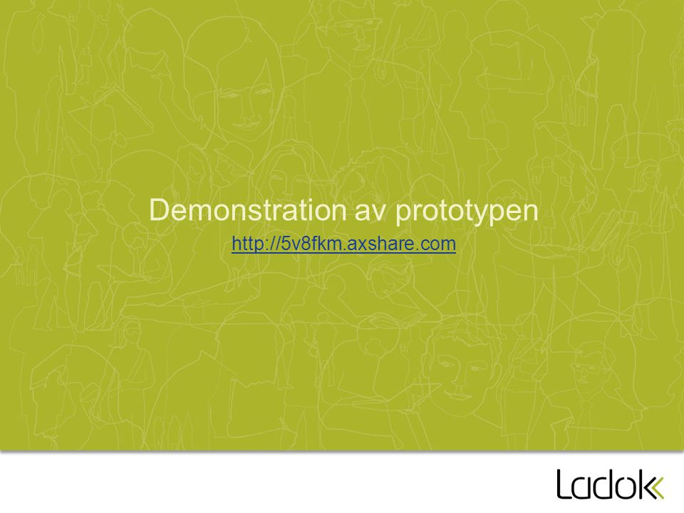 Demonstration av prototypen