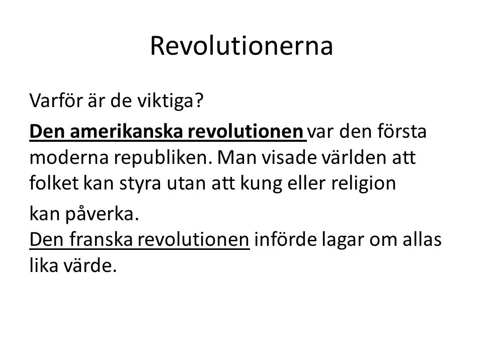 Revolutionerna