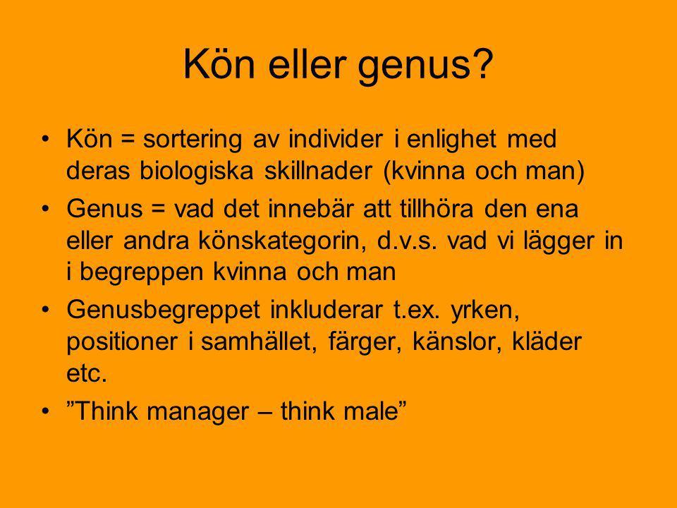 skillnad mellan kön och genus