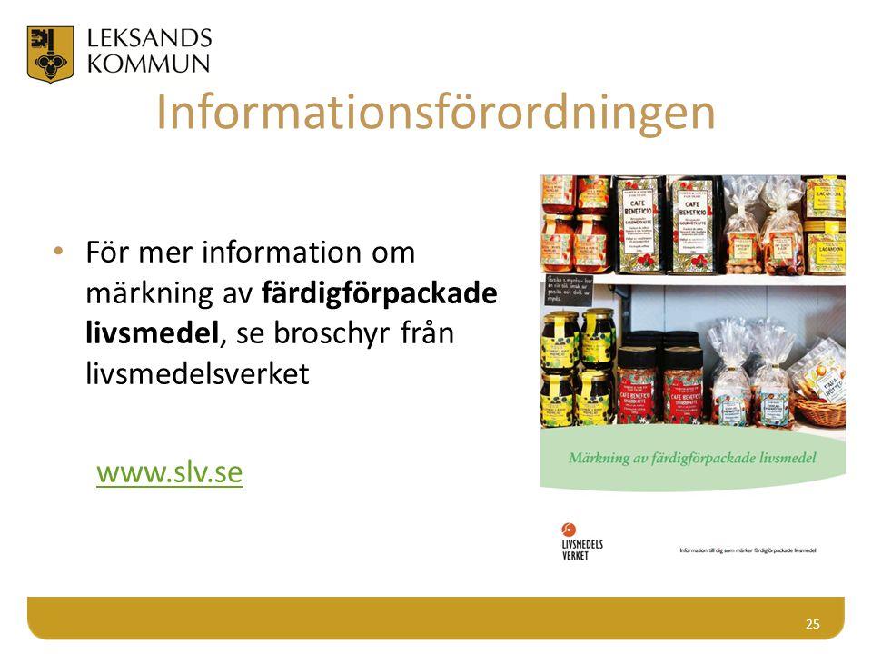 Märkning av färdigförpackade livsmedel