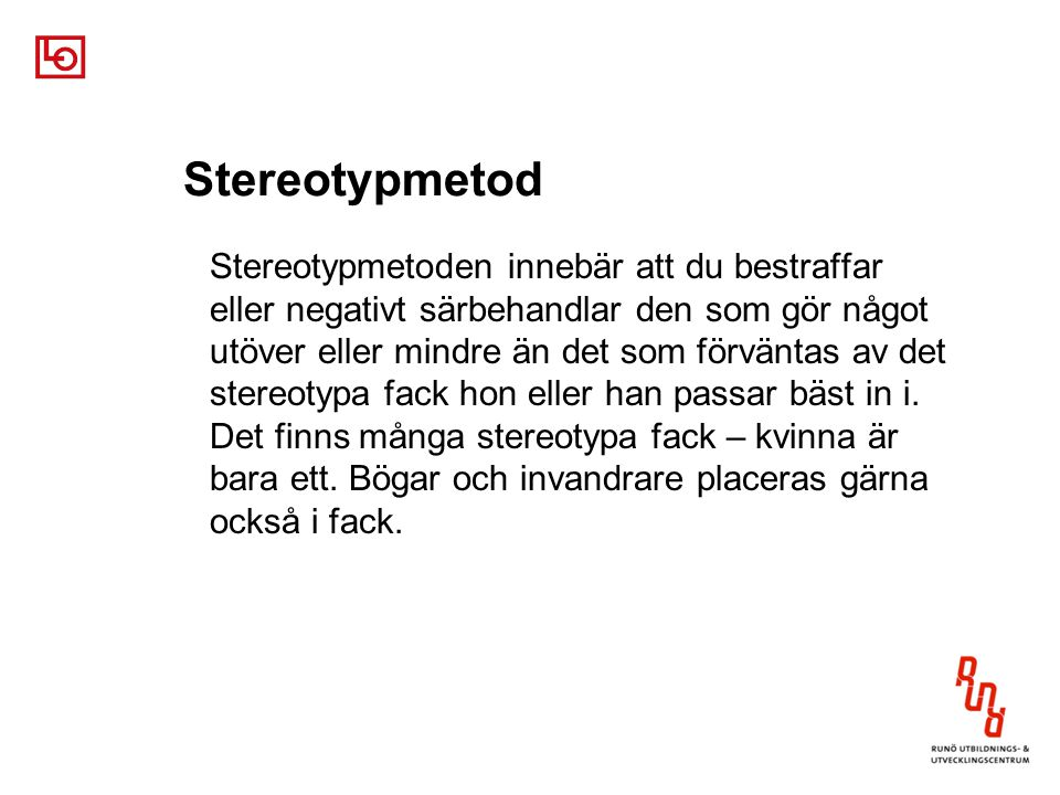 Stereotypmetod