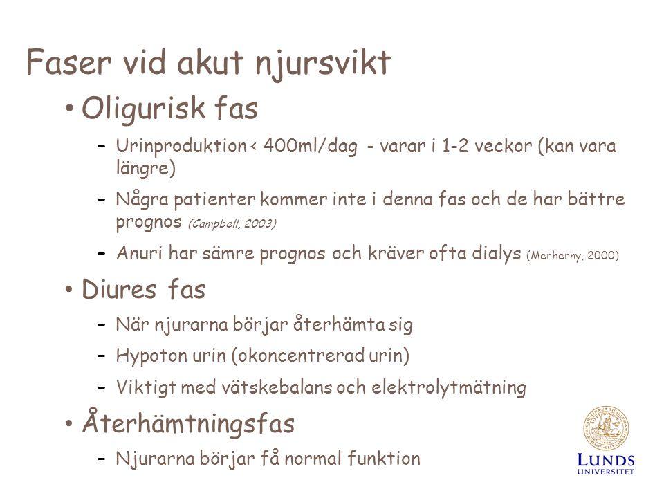 Njursjukdomar Anneli Jönsson sjuksköterska, universitetsadjunkt ...