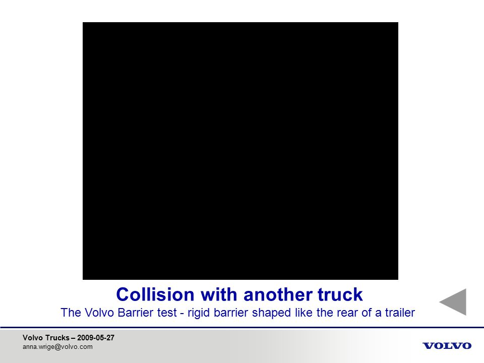 Collision with another truck