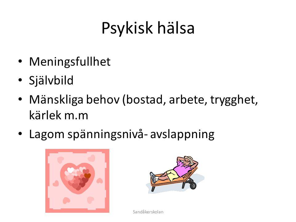 fysisk hälsa och ohälsa