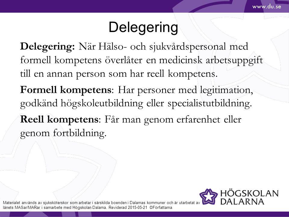 delegering läkemedel lag