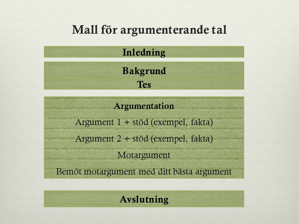 argumenterande text mall